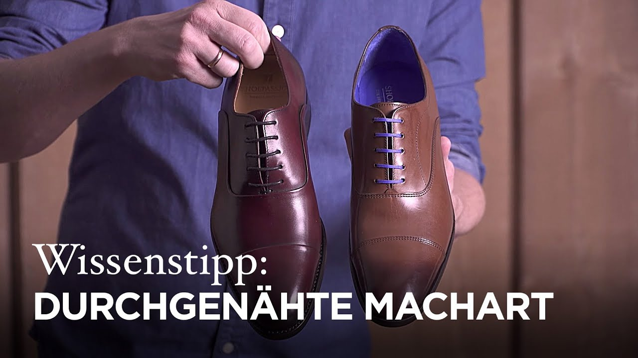 promo code 9ec91 863a1 Wissenstipp: Durchgenähte Schuhe