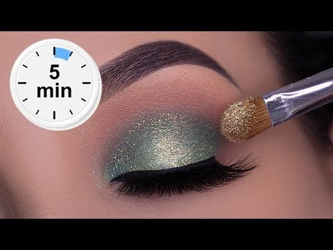 5 MINUTE Easy Soft Sparkly Green Eye Look for Everyday Wear