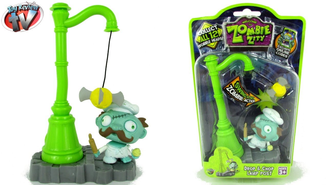 Zombie Zitty Swobblers Trap Pack: Drop U0026 Chop Lamp Post Toy Review, Dracco    YouTube