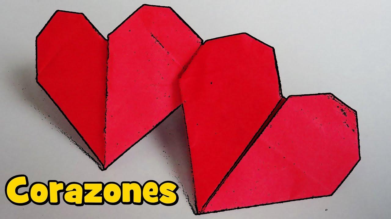 Coraz n doble con una hoja de papel origami youtube - Como hacer un corazon con fotos ...