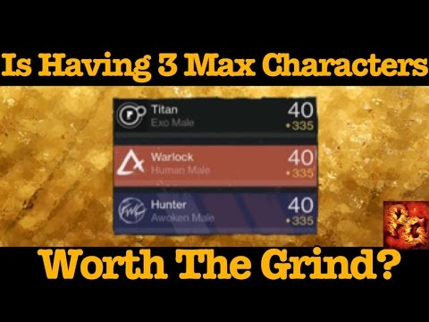Destiny: Is Having 3 Level 335 Characters Worth The Grind?