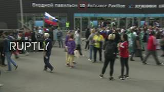 Live: Fans arrive to Luzhniki Stadium ahead of Russia vs Saudi Arabia opening World Cup match