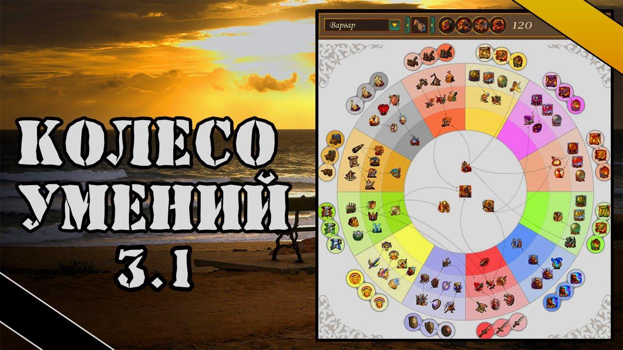 Встроенное колесо умений в игру v3. 0. 2 homm v повелители орды.