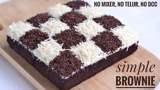 Download Brownies Kukus Coklat Termudah, Tanpa Mixer, Tanpa Telur, Tanpa DCC