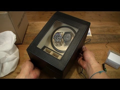 Axis Carbon Fibre Effect Twin Watch Winder