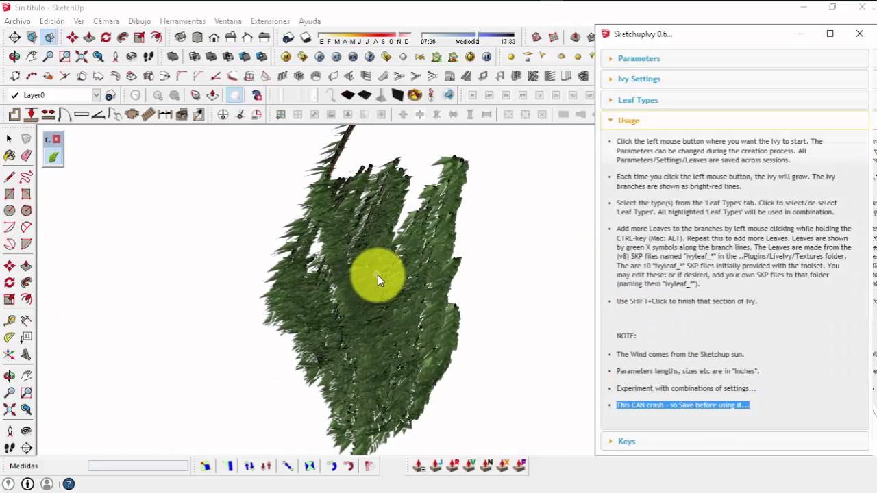 Ivy Generator - Plugin Sketchup 2015