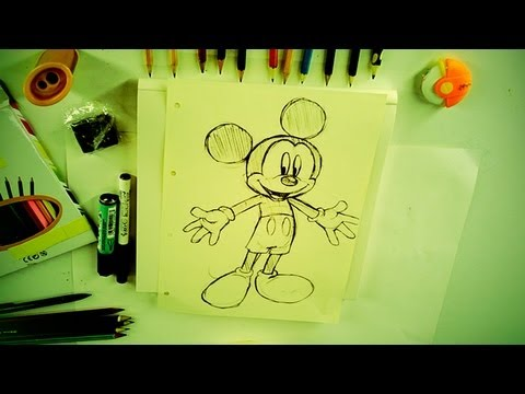 Comment bien dessiner mickey mouse ou personnage disney des tutoriels pour tous youtube - Dessiner disney ...