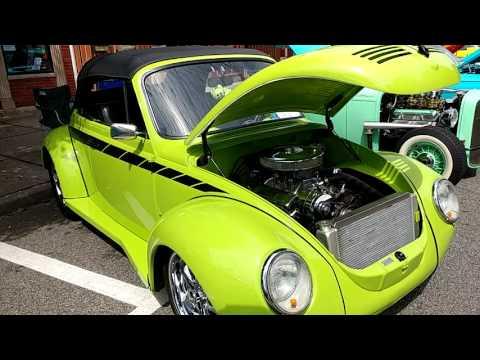 1973 LIME GREEN VOLKSWAGEN BEETLE CONVERTIBLE 350 FRONT ENGINE