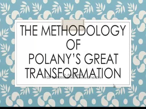 The Methodology of Polanyi's Great Transformation