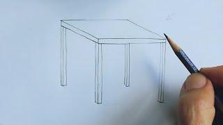 Masa Nasıl çizilir? \\How To Draw A Table?