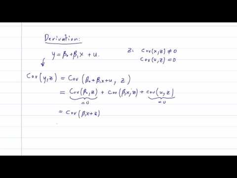 ECO375F - 6.1 - Instrumental Variables: Definition and Derivation of the Estimator