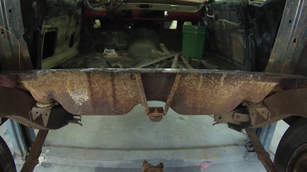1957 Chevy Belair One Piece Trunk Pan Install