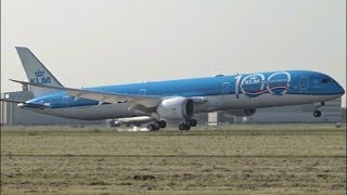 klm 100 years klm boeing 787 10 first arrival watersalute at schiphol