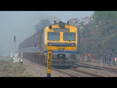 [IRFCA] DEMU Train [Guwahati to Haibargaon] speeding through New Guwahati Coaching Yard