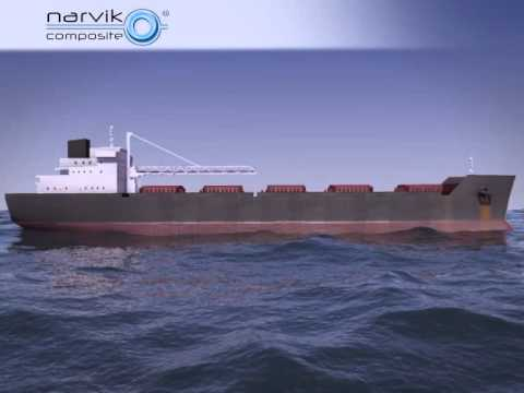 Narvik Composite Rollers - Onboard conveyor