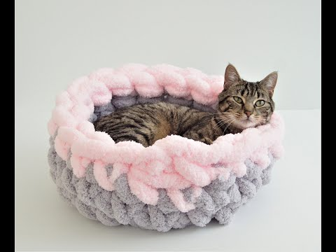 How to Make A Crochet Cat Bed | JOANN | 360x480