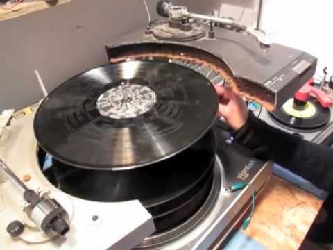 Spooky music made by abusing turntables and cutting up and reforming vinyl records