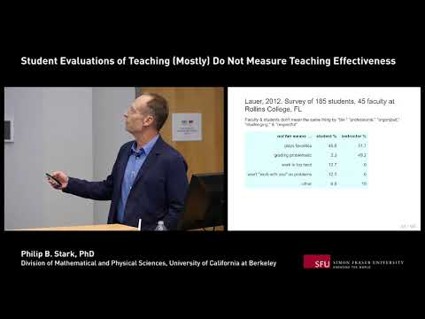 TAWG Speaker Series: Student Evaluations of Teaching (Mostly) Do Not Measure Teaching Effectiveness