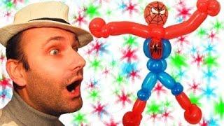 Человек-паук из шариков аэродизайн ★ Spiderman of balloons(В этом видео я показываю как сделать человека-паука из трех шариков шдм и одного круглого двух, или трех..., 2014-10-28T06:42:25.000Z)