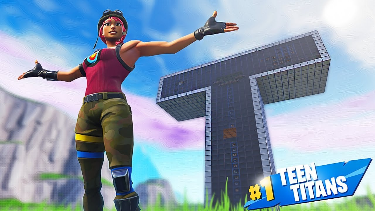 We Built the TEEN TITANS TOWER IN FORTNITE CREATIVE MODE