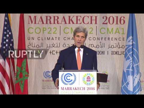Morocco: 'Climate change shouldn't be a partisan issue' – Kerry at COP22
