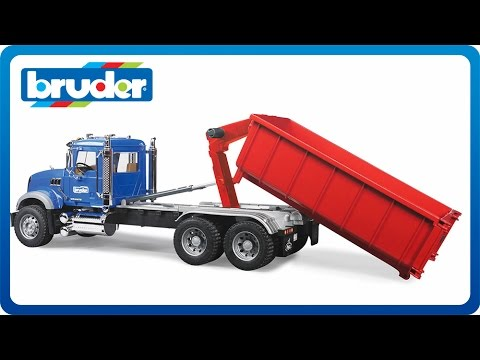 fa76ce2448be Bruder Toys MACK Granite with Roll-Off Container #02822