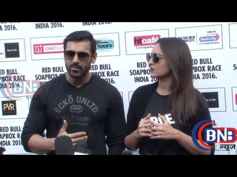 John Abraham & Sonakshi Sinha At Red Bull Soapbox Race 2016