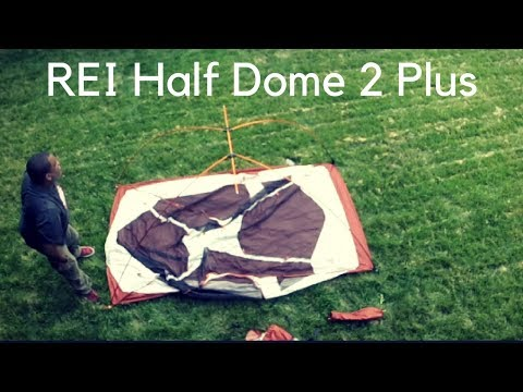 REI Half Dome 2 Plus Backpacking Tent Setup In 2 Minutes
