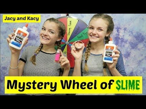 Mystery Wheel of Slime Challenge ~ Jacy and Kacy