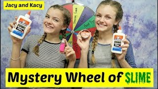 Mystery Wheel of Slime Challenge ~ Jacy and Kacy