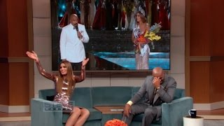 Steve Harvey Reunites with Miss Colombia for First Time Since Mishap