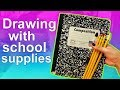 DRAWING WITH ONLY SCHOOL SUPPLIES