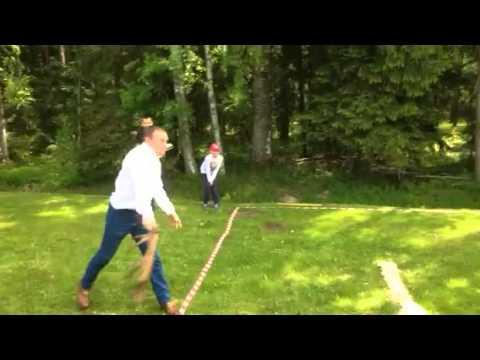 George Eustice - antler-throwing in Latvia