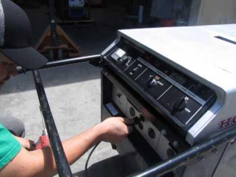 sold honda   super quiet generator liquid cooled gas engine youtube
