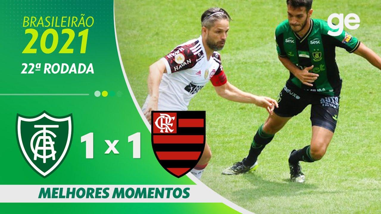 Download AMÉRICA-MG 1 X 1 FLAMENGO | MELHORES MOMENTOS | 22ª RODADA BRASILEIRÃO 2021 | ge.globo