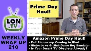 Weekly Wrapup 210 - Prime Day Haul, Big Bezels, NVMe vs. SATA Revisited