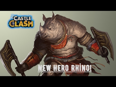 New Hero Rhino Castle Clash 10k Free Gems Kale Savaşı Yeni Hero Gergedan