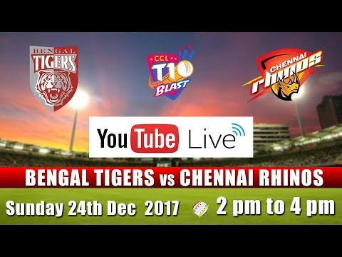 CCL T10 Blast Match I Bengal Tigers VS Chennai Rhinos I Dec 24th
