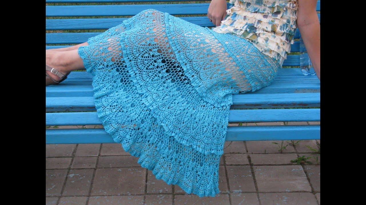 d7ae4c2196 Faldas tejidas a crochet largas - YouTube
