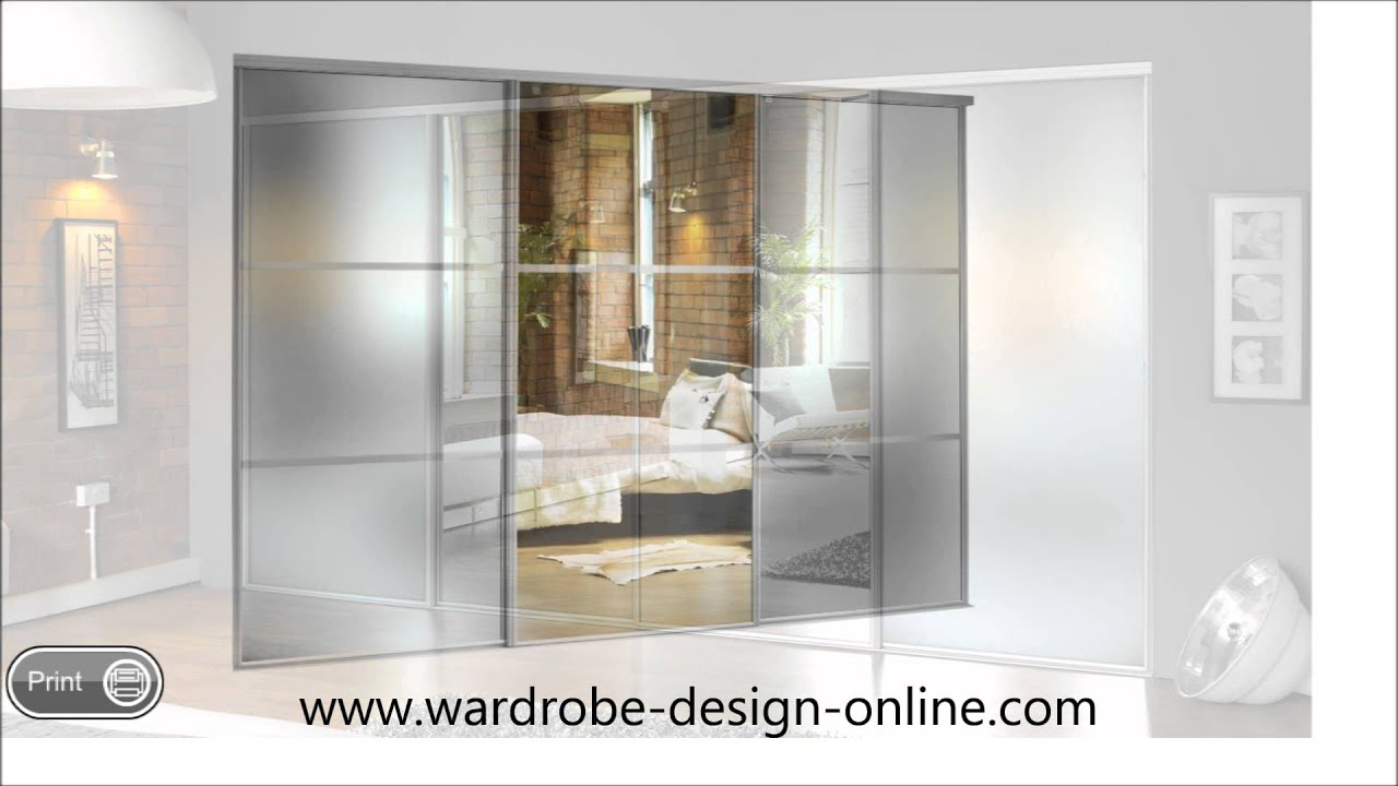 Sliding Frosted Glass Wardrobe Doors Youtube