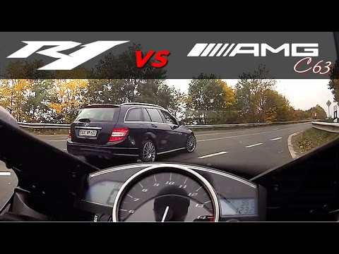 Yamaha R1 vs +530HP Mercedes-Benz +300km/h