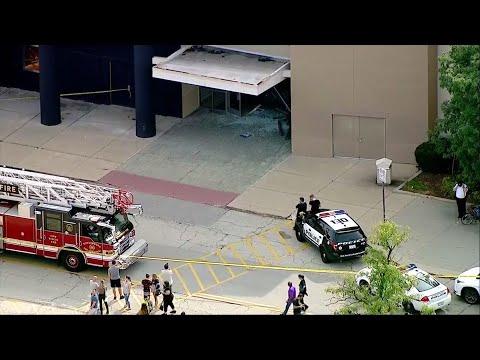SUV crashes, rolls through suburban Ill. mall