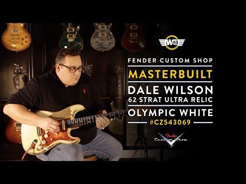 Dale Wilson Masterbuilt 62 Stratocaster - Ultra Relic Olympic White #cz543069 - Fender Custom Shop