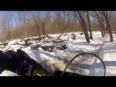 Root River ice riding from freeway to dam, DRZ400 SM, 3/2/15