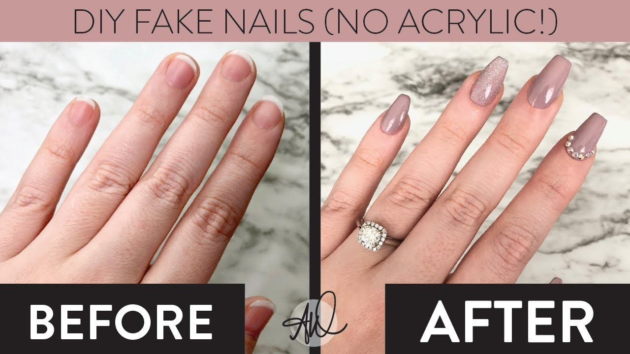 DIY 9 Minute Fake Gel Nails Without Acrylic Easy and Cheap