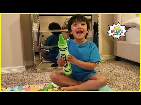 Ryan Pretend Play Story about  Magical Crayons for Kids!!!