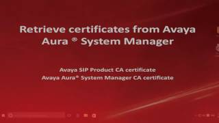 How to export SSL Certificates from Avaya Aura System Manager for SIP endpoints on a Windows PC