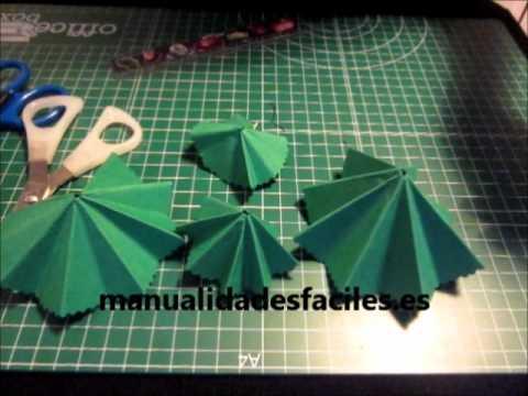 Como hacer un arbol de navidad con papel youtube for Arbol de navidad mural