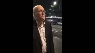 City Of Sydney Council Ranger Asks A Street Musician To Stop Busking On Friday Night At 740pm