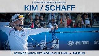 Kim Jongho v Kris Schaff – compound men's semifinal | Samsun 2018